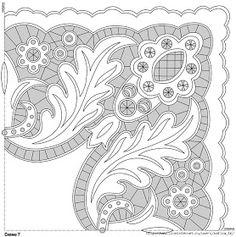 Lene Richelieu e Bainha Aberta: Riscos de richelieu{net} Border Embroidery Designs, Cutwork Embroidery, Sewing Machine Embroidery, White Embroidery, Cross Stitch Embroidery, Japanese Patchwork, Lesage, Point Lace, Doodle Patterns