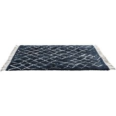 """The knots """"sit & wonder"""" berber rug 500x300cm (355.830 RUB) ❤ liked on Polyvore featuring home, rugs, beige area rugs, navy wool rug, cream area rug, navy area rug and moroccan wool rug"""