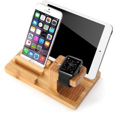 Bamboo for Apple Watch Stand compatible with all versions for Apple Watch and all for iPhone. 1 x Bamboo Wooden Holder. KEY DETAILS - Charging dock holds for Apple Watch and for iPhone / Smartphone at a comfortable angle. Iphone Holder, Iphone Stand, Cell Phone Holder, Iphone 8, Charger Holder, Phone Charger, Apple Watch Iphone, Apple Watch Ipad, Docking Station
