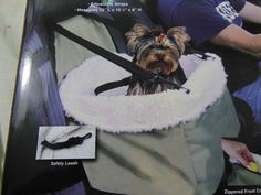 DOG CAR SEAT BOOSTER SEAT WITH REMOVABLE FAUX SHEEPSKIN LINING NEW