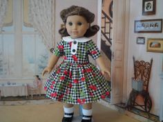 American Girl Doll Dress for 1940s and by StylishLittleLadies, $36.00