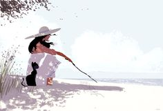 Words in the sand. #pascalcampionart. It's pretty much a follow up from yesterday's sketch.