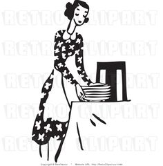 setting the table clipart girl setting table silhouette cutting rh pinterest com au