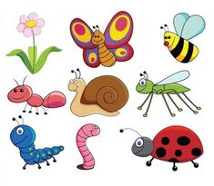 9 Cute Cartoon Insects & Friends Vector Graphics - http://www.dawnbrushes.com/9-cute-cartoon-insects-friends-vector-graphics/