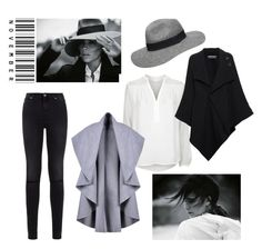 """B&W November"" by annmoment on Polyvore featuring Victoria Beckham, Dorothy Perkins, Diane Von Furstenberg, Roland Mouret and 7 For All Mankind"