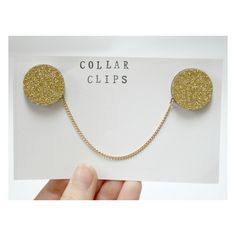 These glittery collar clips are perfect for brightening up any collared shirt - simply pin one glittery circle to each side of the collar for a super cute look. Ideal for pinning on a plain black shirt to go out dancing.  The collar clips are made by glueing glittered card to wooden circles, be...