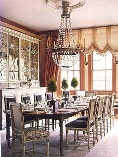 Glamorous dining room