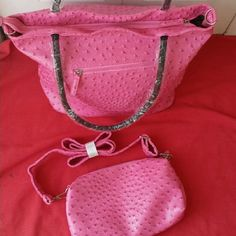 Set of tote bag and crossbody Size large and small brand new length 13 inch/16 inch length 6.5 inch/11 inch. Bags Totes