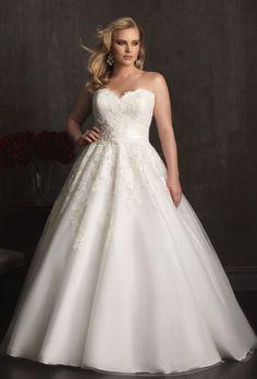 Vestido de novia corte princesa plus size. Encuentra más inspiración en http://bodatotal.com/