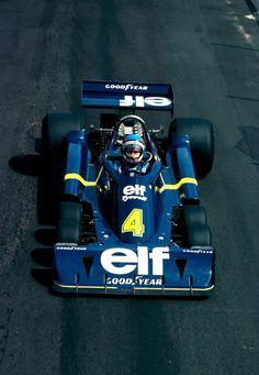 Patrick André Eugène Joseph Depailler (FRA) (Elf Team Tyrrell), Tyrrell P34 - Ford-Cosworth DFV 3.0 V8 (RET)  1976 British Grand Prix, Brands Hatch  1976 British Grand Prix, Bra...