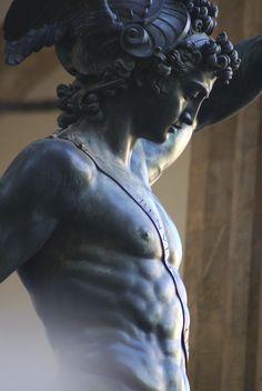 Benvenuto Cellini's statue Perseus With the Head of Medusa in The Loggia dei Lanzi gallery (Florence)