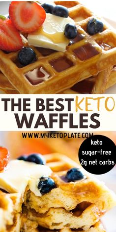 The Best Keto Waffles - Fluffy & Delicious