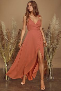 100 Bridesmaid Dresses Perfect for Your Fall Wedding   The Perfect Palette Backless Maxi Dresses, Maxi Wrap Dress, Maxi Dress With Sleeves, Ruffle Dress, Stunning Dresses, Cute Dresses, Women's Dresses, Dress Outfits, School Dresses