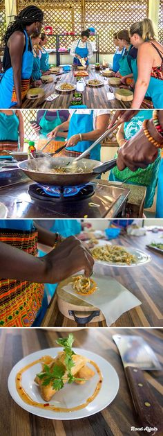 Learning how to cook Thai food at Mama Noi Thai Cookery School in Chiang Mai, Thailand.