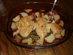 Mulberry Girl's Recipes: Lemon Chicken with Green Beans and Red Potatoes