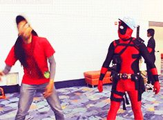 """28 Awesome Deadpool Cosplay Pictures - my favorite is the """"God hates Wolverine"""" one"""