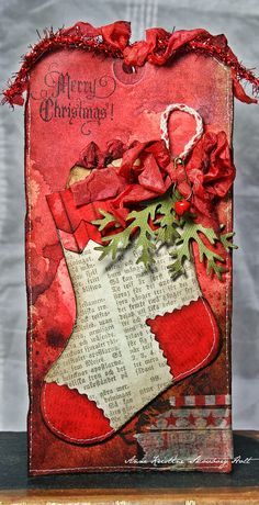Hi everyone....hope you had a great and creative week.... today I have a tag with Christmas Stocking to show you. Love this cute stockin...