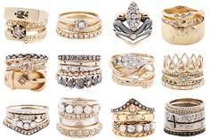 Stunning Ring Stacks