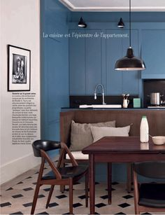 Dining Room Blue, Kitchen Dinning Room, Kitchen And Bath, Dining Area, Black 80ce5876a60