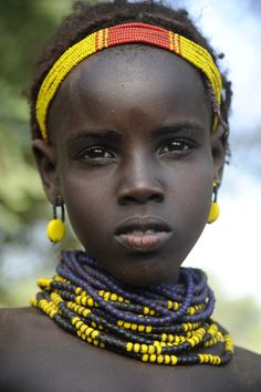 Young girl from Dassanech Tribe - Omo Valley Ethiopia