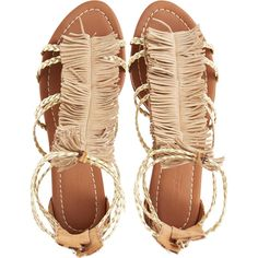 VISCONTI & DU REAU Cuba Gladiator Sandal ($399) ❤ liked on Polyvore featuring shoes, sandals, flats, sapatos, metallic gladiator sandals, leopard gladiator sandals, gladiator sandals, leopard flats and greek sandals