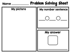 Here are two different versions of a problem solving page where students can organize their work.