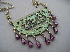 Bohemian Necklace  Bohemian Jewelry  by SilverTrumpetJewelry, $35.00