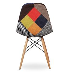 silla wooden patchwork edition 2 sillas icono del diseo dsw patchwork - Chaise Eleven Patchwork Colors
