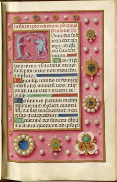 Folio 126r, from a psalter made in Flanders, 1500-35 (