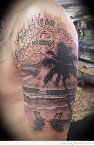 Image result for Beach Scene Tattoos for Women