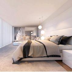 Boa noite!🌙 Um quarto moderno e bem charmoso!! Inspiração✔️#arquiteturadeinteriores  #arquitetura #archdecor #archdesign #archlovers #interiores #instahome #instadecor #instadesign #design #detalhes #produção #decoreseuestilo #decor #decorando #decordesign #luxury #decorlovers #decoração #homestyle #homedecor #homedesign #decorhome #home #quartodecasal #suitemaster #chambre #suitecasal #referência