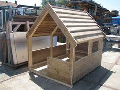 steigerhout  speelhut/huis ~ fort/playhouse from solid lumber