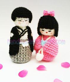 Crochet um conjunto 4 pcs de Mini Teletubis Amigurumi Finish boneca