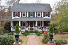 images of colonial homes at christmas - Google Search  Getting ideas for the outside of the elves home