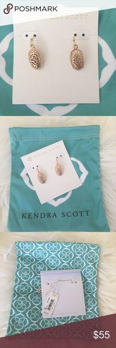 NWT Kendra Scott Lee Gold Filigree Earrings NWT Kendra Scott Lee Gold Filigree Earrings still on original backing with dust bag.  Price is firm. Kendra Scott Jewelry Earrings