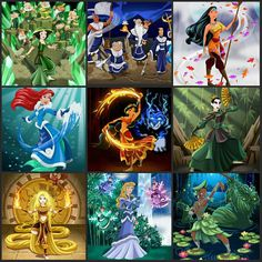 Disney princesses in the Avatar world