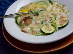 Portuguese Bread Soup. This summery version of the traditional dish cooks bread and squash in broth.