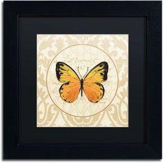 Trademark Fine Art End of Summer V Canvas Art by Lisa Audit, Black Matte, Black Frame, Size: 16 x 16, Multicolor