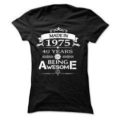 (Tshirt Fashion) MADE IN 1975 AWESOME [TShirt 2016] Hoodies, Tee Shirts