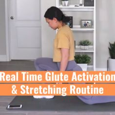 Real Time Glute Activation & Stretching Routine (P2) Bridge Workout, Bed Workout, Glute Bridge, Lower Belly Workout, Stretch Routine, Hamstring Curls, Kid Poses, Easy Workouts, Workout Challenge
