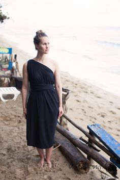 this dress, beach style ... turns into a scarf, and a cardigan. eco-conscious fabric, ethically made in Canada. Little Black Dress.