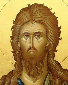 Св.Јован Крститељ Religious Images, Religious Art, Byzantine Icons, Biblical Art, John The Baptist, Orthodox Icons, Madonna, Egypt, Saints