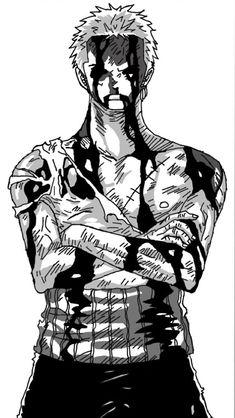 One Piece Roronoa Zoro by - anime Roronoa Zoro, One Piece Tattoos, Pieces Tattoo, Manga Tattoo, Anime Tattoos, Zoro One Piece, One Piece Fanart, Tatuagem One Piece, One Piece Deviantart
