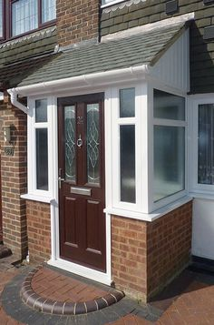 Pretty raised porch design why not find out Building A Porch, Porch Design, Porch Designs Uk, House With Porch, Entrance Porch, Porch Extension, Porch Kits, House Entrance, Brick Porch