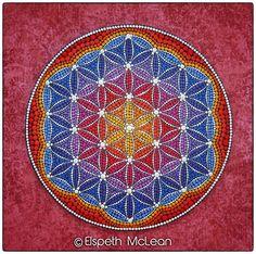 Phoenix Fire Flower of Life Mandala by Elspeth McLean #sacredgeometry #floweroflife #spiritual #elspethmclean #sacred