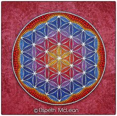Phoenix Fire Flower of Life Mandala by Elspeth McLean