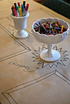 Wedding table ideas for kids. This would be such a great idea. Especially for my huge family!