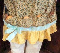 Apron with egg pockets! So egg don't get broken.