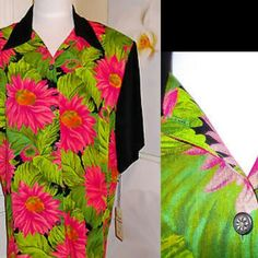 """NWT Pink Sunflower Sheer Sleeve Blouse New with tag~Old stock. May be Vintage Beautiful button down blouse with large sunflower buttons, semi-sheer sleeves & has shoulder pads, which easily can be removed. measurements laid flat- armpit to armpit 22"""" shoulder to bottom hem 32"""" sleeve 7"""" wide  shoulder to shoulder 18"""" 100% rayon Offers welcome~Bundle and save  Coming from a smoke free home Karen Kane Tops Button Down Shirts"""