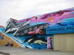 Endangered Species mural.  Venice Beach, CA 1990.